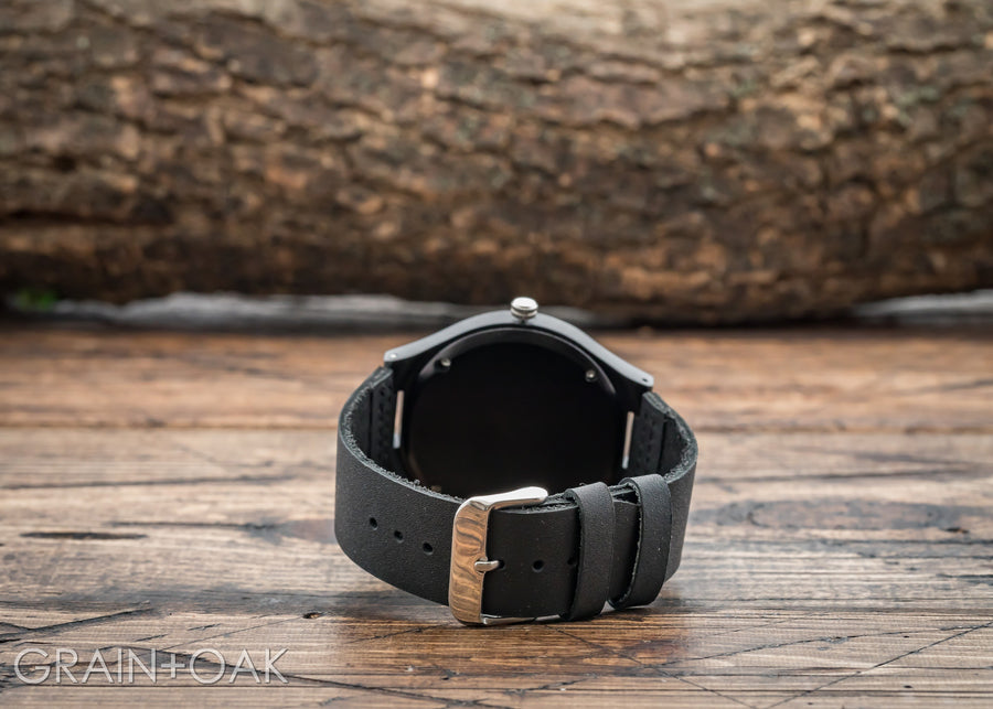 The North Ebony | Set of 4 Groomsmen Watches Grain and Oak