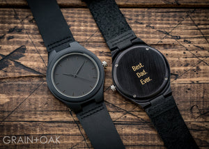 The North Ebony | Set of 5 Groomsmen Watches Grain and Oak