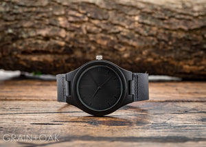 The North Ebony | Wood Watch Leather Band Watches Grain and Oak