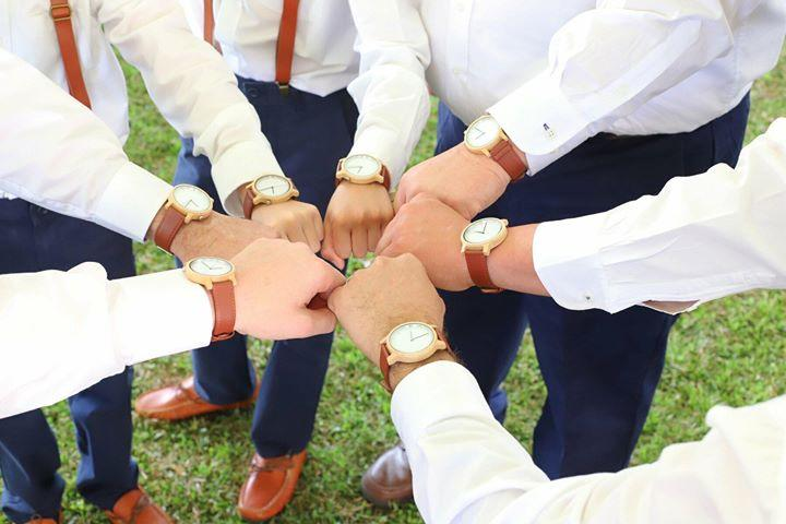The Olive Blue | Set of 7 Groomsmen Watches Grain and Oak