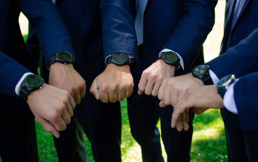 The Olive Blue | Set of 8 Groomsmen Watches Grain and Oak
