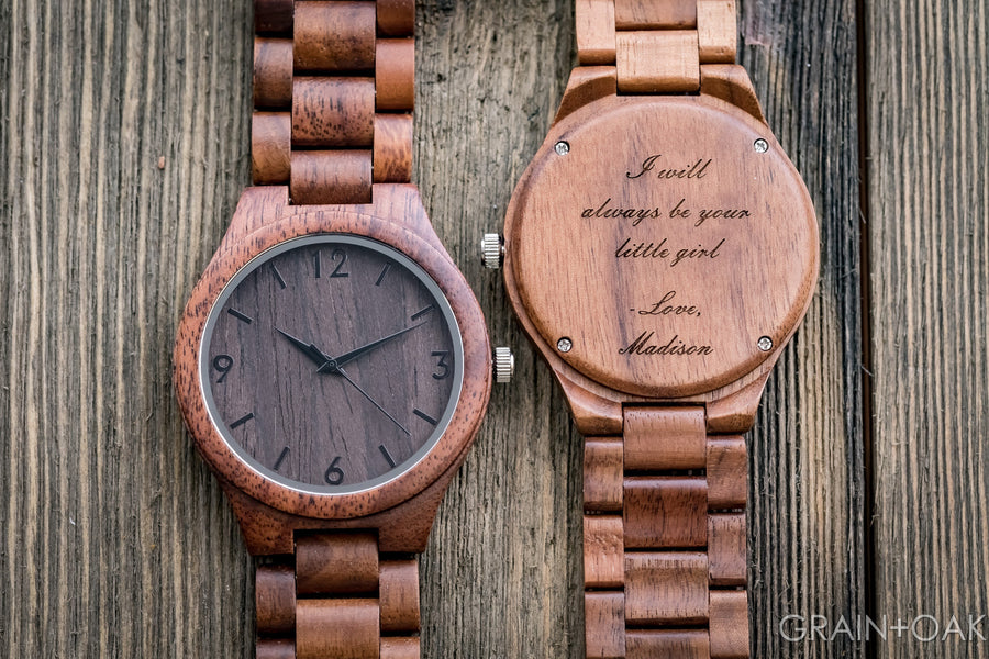 The Oliver Walnut | Set of 6 Groomsmen Watches Grain and Oak