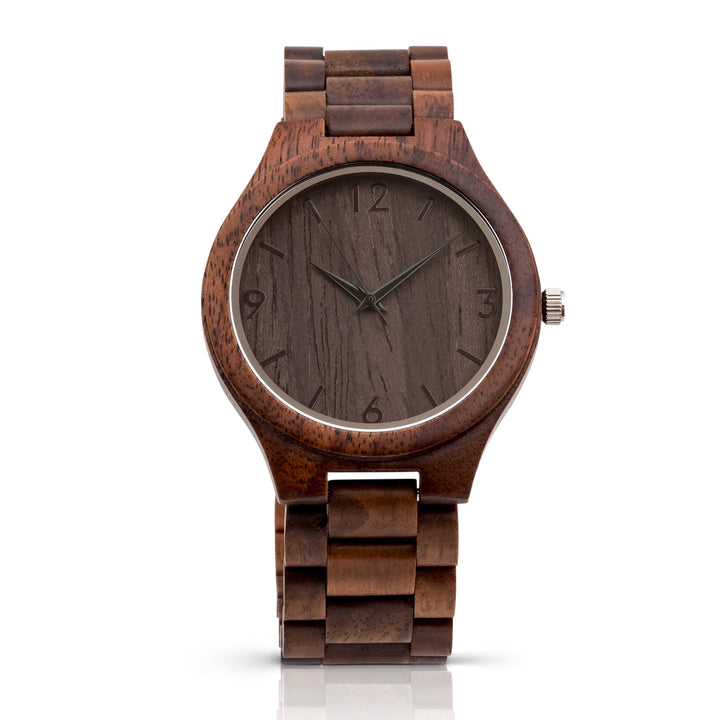 The Oliver Walnut | Set of 9 Groomsmen Watches Grain and Oak