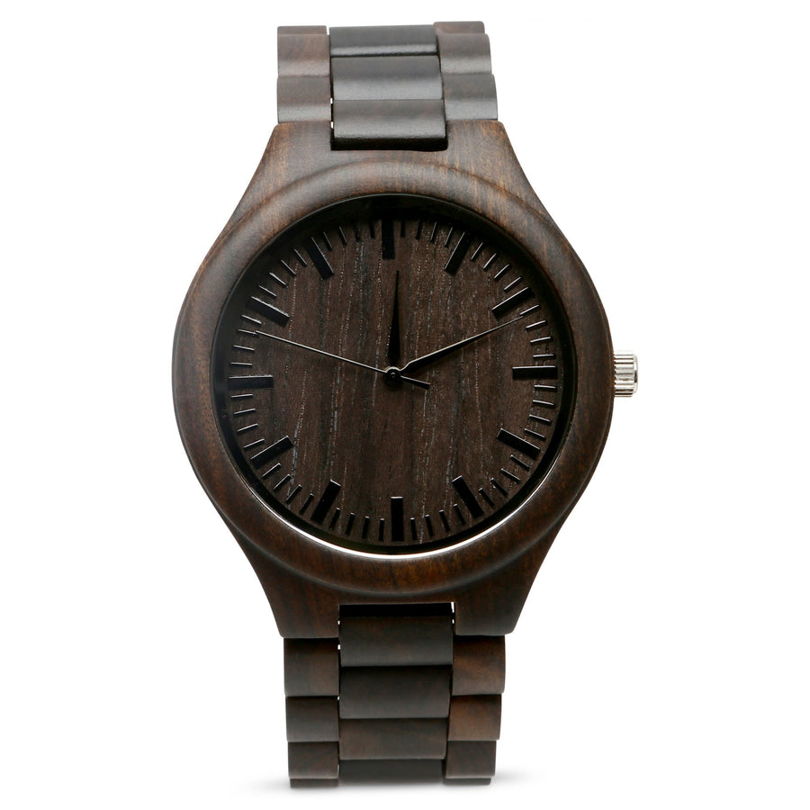 The Ridge Ebony | Set of 9 Groomsmen Watches Grain and Oak