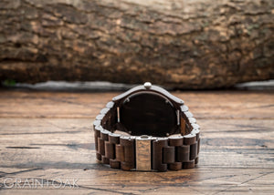 The Ridge Ebony | Wood Watch Wooden Band Watches Grain and Oak
