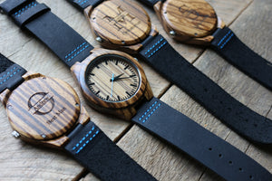 The Thomas Peak | Wood Watch Leather Band Watches Grain and Oak