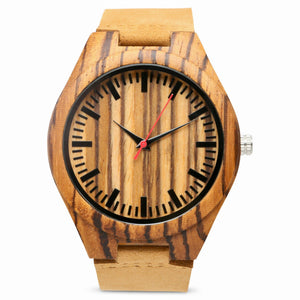 The Thomas Red | Set of 4 Mens Watches Grain and Oak
