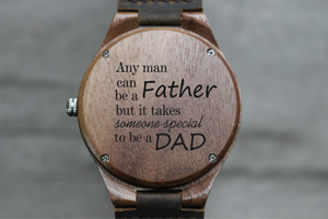 """To Be A Dad"" - Wood Watch 