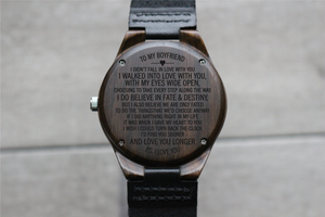 """To My Boyfriend"" - Wood Watch 