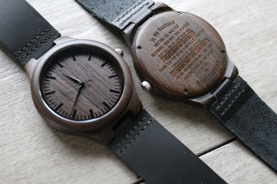 """To My Husband, Meeting You Was Fate"" - WOOD WATCH 
