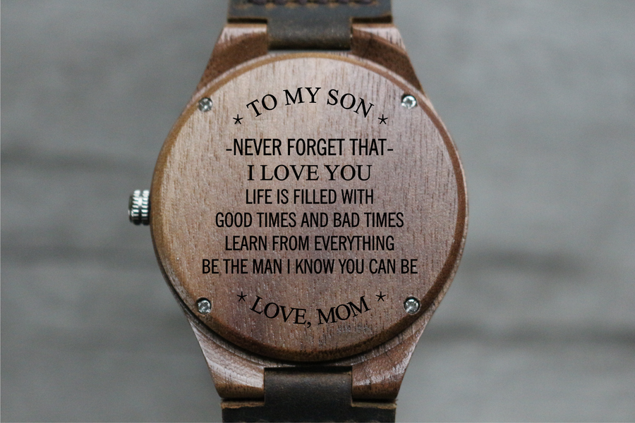 """To My Son"" - Wood Watch 