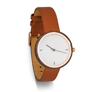 Winslet Classic | Women's Wood Watch Leather Band Watches Grain and Oak