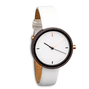 Winslet Frost | Women's Wood Watch Leather Band Watches Grain and Oak