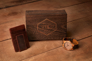 Wooden Gift Box Design - Hex Grain and Oak