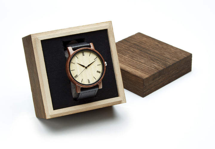 Wooden Watch Gift Box Wood Watch Box Grain and Oak