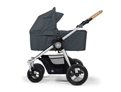 Bumbleride Era Reversible Seat Stroller Dawn Grey with Bassinet Accessory