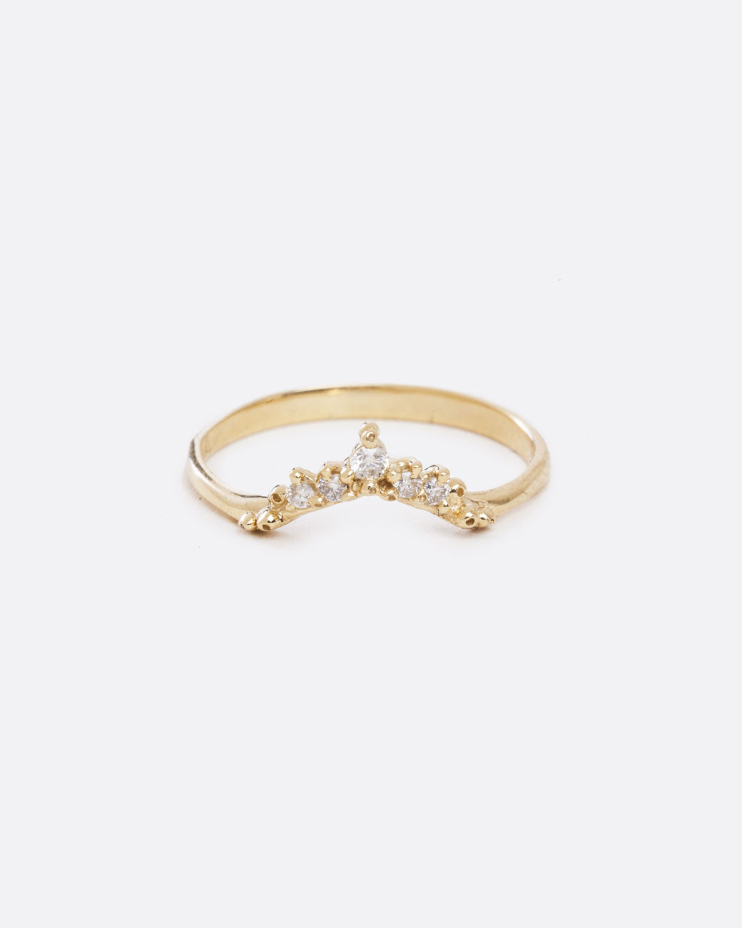 Diamond Curved Band Ring Love Adorned