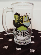 "TRICELL 215- "" Beverage Mug "" 16oz Glass with Handle"