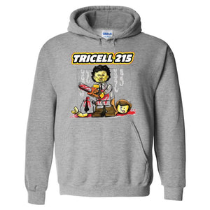"TRICELL 215- ""CHAINSAW MASSACRE"" PULL OVER HOODIE"