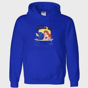 "TRICELL 215- "" SPALSHING WITH STITCH "" PULL OVER HOODY"