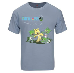 "TRICELL 215- SCARE BEAR "" FITTED SHORT SLEEVE CREW SHIRT"
