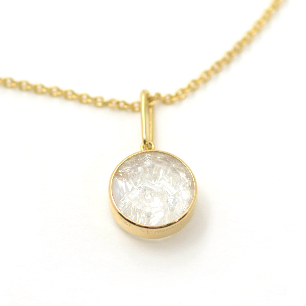 moritz glik diamond shake necklace in 18 karat yellow gold.