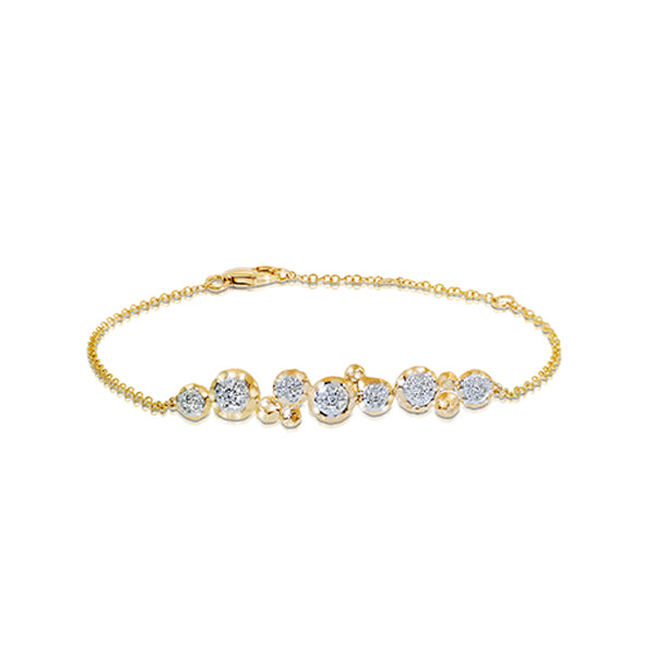 Phillips house yellow gold and diamond bracelet
