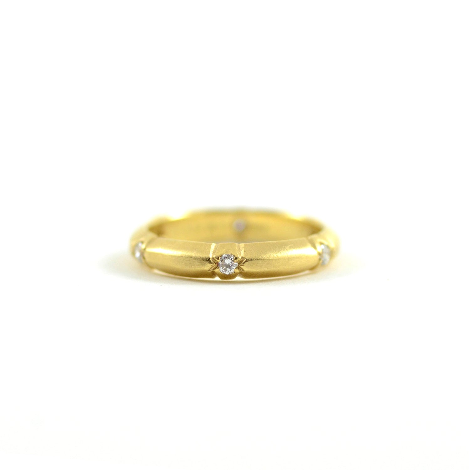 Yellow Gold Band with Diamonds
