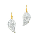 Phillips House Affair petal earrings in 14kt gold and pave diamonds