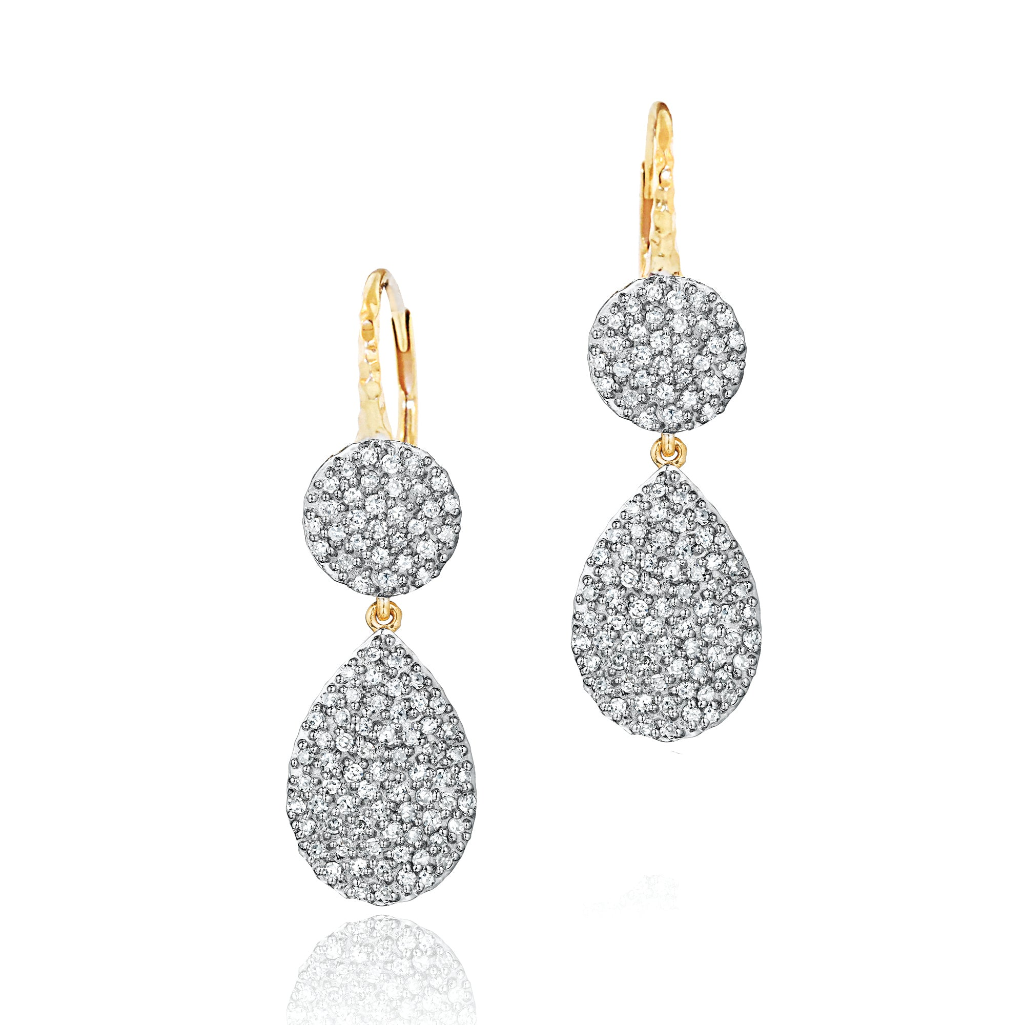 Diamond Round Pear Infinity Earrings
