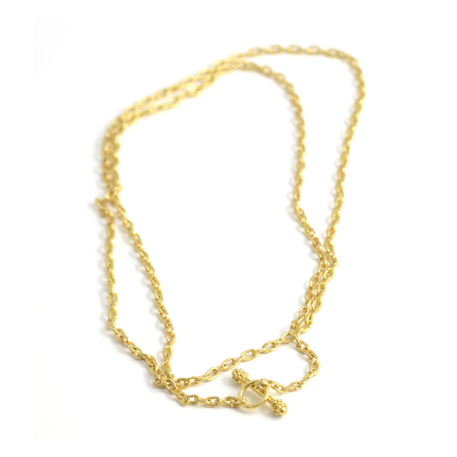 "Elizabeth Locke Jewels handmade gold chain 35"" length"