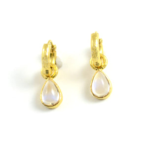 Pear-shaped Moonstone Earring Pendants