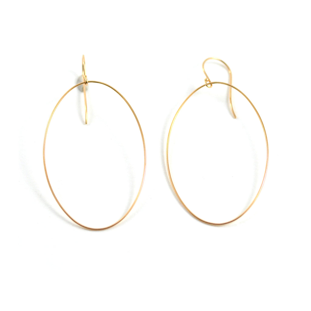 Ginnete NY Earrings Ellipse 18 Karat Rose Gold