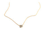 Ginette NY Milky Way mini diamond open star necklace 18 Karat Rose Gold