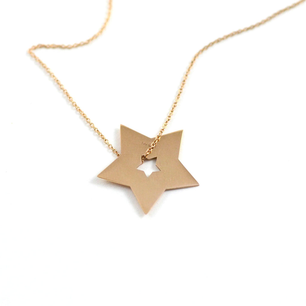 Ginette Necklace Milky Way Open Star Rose Gold