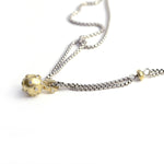Yellow Gold and Diamond Spoutnik Pendant