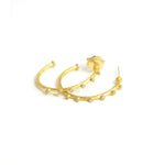 lika behar 24 karat gold and diamond hoops