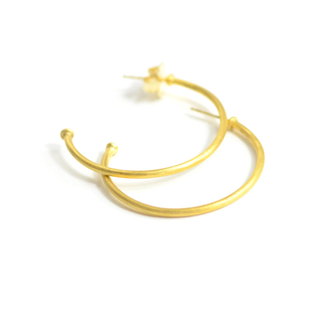 Lika Behar 40mm 24kt gold hoops