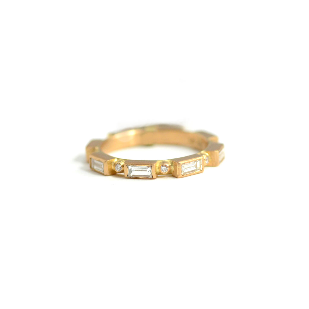 lika behar peach glow 22kt gold diamond band
