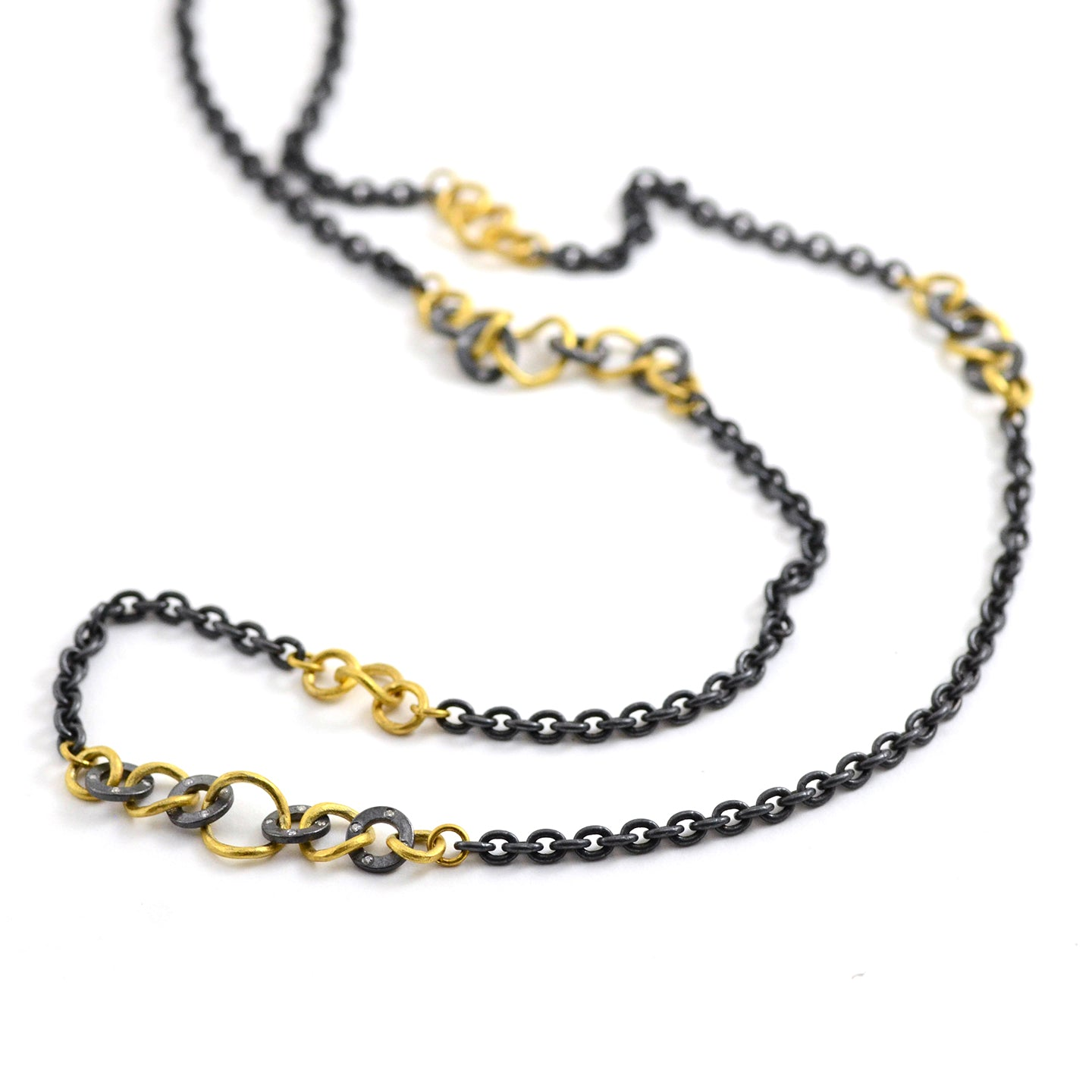 Mixed Metal Bubbles Necklace