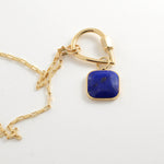 Small Lapis Squircle Charm