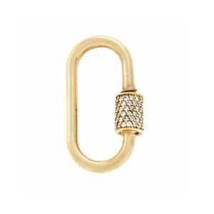 marla Aaron medium stoned lock with diamonds
