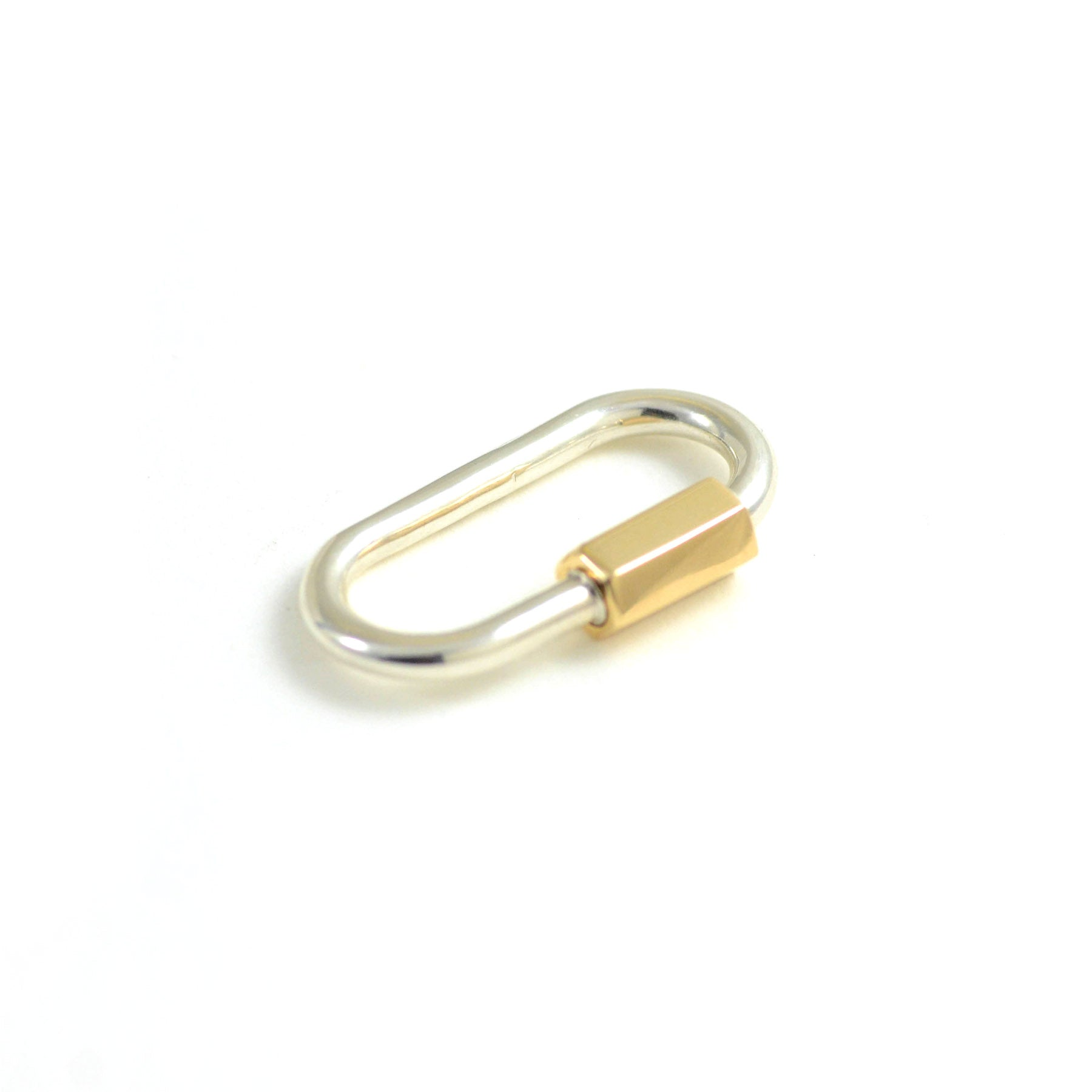 Medium Lock in White Gold with Yellow Gold Closure