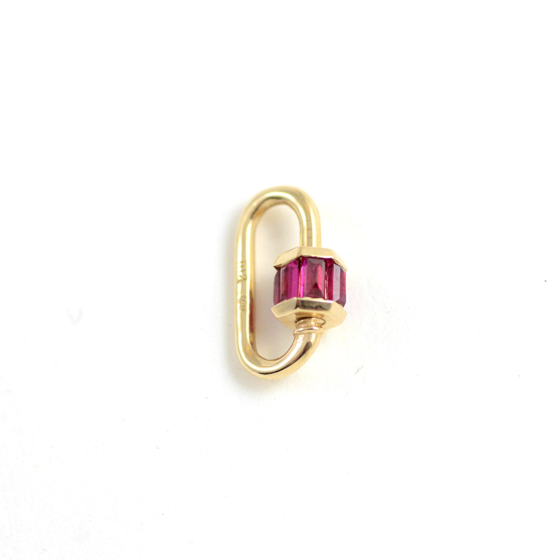 Total Baguette Babylock in Yellow Gold with Rubies
