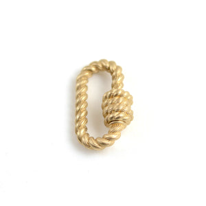 Twisted Lock in Yellow Gold
