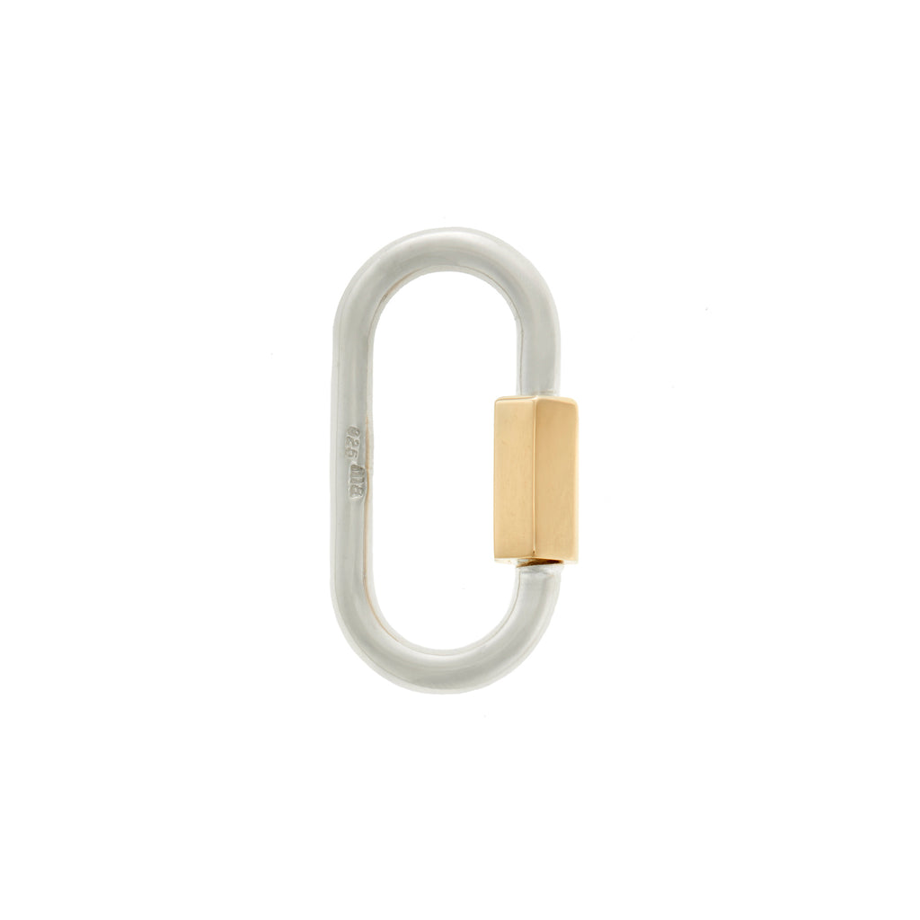 Regular Lock in Sterling Silver with Yellow Gold Closure