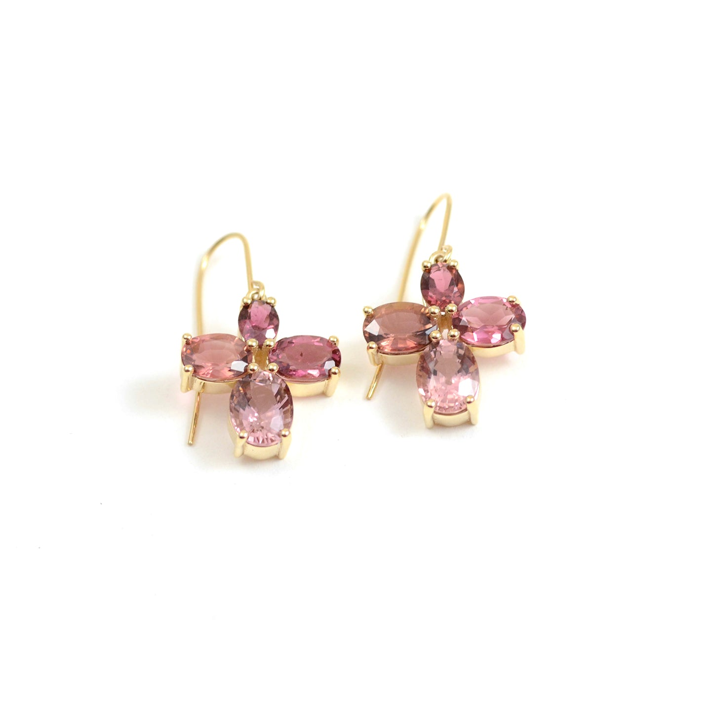 Pink Tourmaline Story Earrings