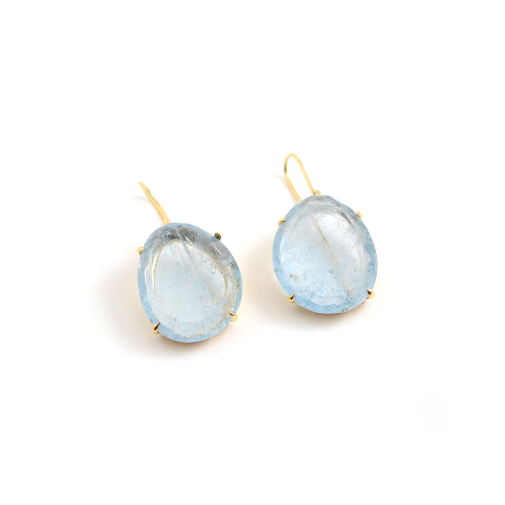 Aqua Glacier Pendant Earrings