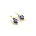 Iolite Faceted Trillion Earrings