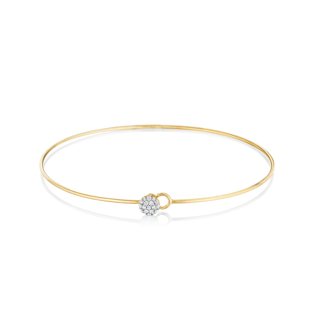 Yellow Gold Diamond Infinity Love Always Wire Bracelet